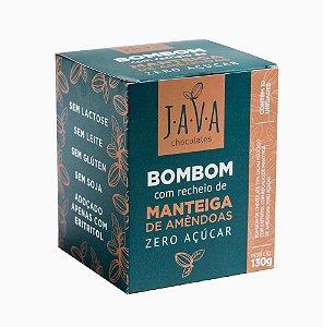 Caixa Bombom low carb ZERO açúcar (eritritol) recheado com manteiga de amêndoas