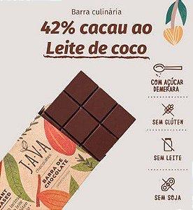 Barra culinária de chocolate ao leite de coco vegano zero lactose 42% cacau - Apenas 5kg