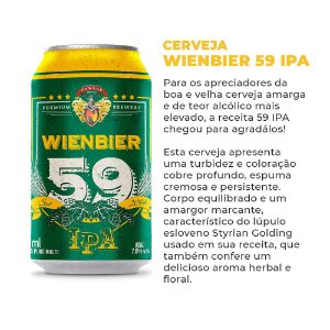Cerveja Wienbier 59 IPA 350ml