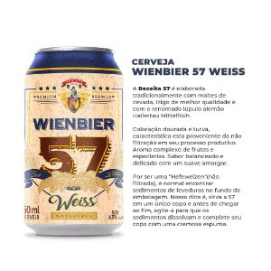 Cerveja Wienbier 57 Weiss 350ml