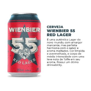 Cerveja Wienbier 55 Red Lager 350ml