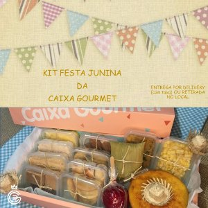 Kit Festa Junina da Caixa Gourmet - Tradicional - Entrega SÁBADO