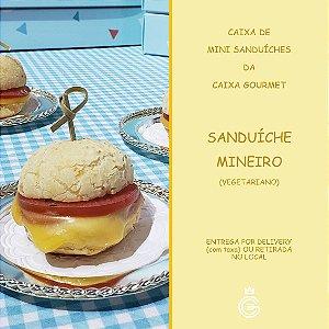 Kit Caixa Sanduíche - Mini Sanduíche Mineiro Vegetariano (15 unidades)