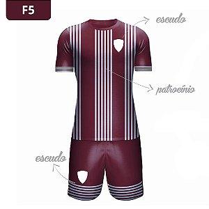 Uniforme de Futebol | KIT Modelo 5 | Personalizado com as cores do seu time | Feminino e Masculino