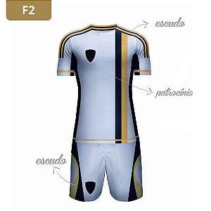 Uniforme de Futebol | KIT Modelo 2 | Personalizado com as cores do seu time | Feminino e Masculino