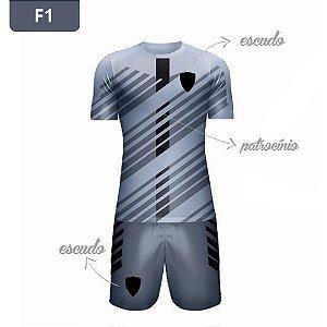Uniforme de Futebol | KIT Modelo 1 | Personalizado com as cores do seu time | Feminino e Masculino