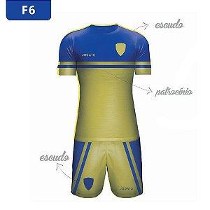 Uniforme de Futebol | KIT Modelo 6 | Personalizado com as cores do seu time | Feminino e Masculino