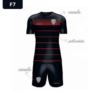 Uniforme de Futebol | KIT Modelo 7 | Personalizado com as cores do seu time | Feminino e Masculino