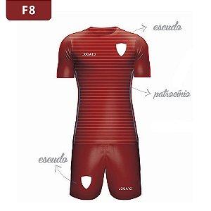 Uniforme de Futebol | KIT Modelo 8 | Personalizado com as cores do seu time | Feminino e Masculino