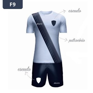 Uniforme de Futebol | KIT Modelo 9 | Personalizado com as cores do seu time | Feminino e Masculino