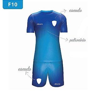 Uniforme de Futebol | KIT Modelo 10 | Personalizado com as cores do seu time | Feminino e Masculino