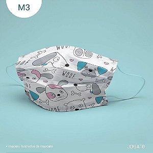 Máscara de Tecido| 2 camadas de proteção | Ajuste no nariz | M3