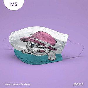 Máscara de Tecido| 2 camadas de proteção | Ajuste no nariz | M5