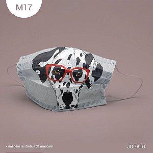 Máscara de Tecido| 2 camadas de proteção | Ajuste no nariz | M17