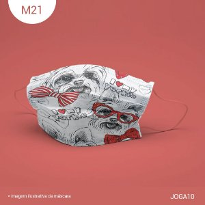 Máscara de Tecido| 2 camadas de proteção | Ajuste no nariz | M21