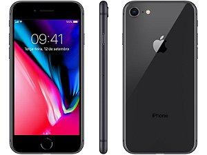iPhone 8 Cinza Espacial 128GB Novo, Desbloqueado com 1 Ano de Garantia - DKAVDUP3S