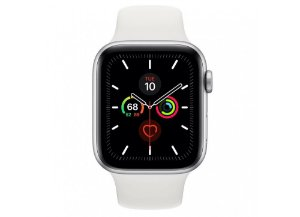 Apple Watch Serie 5 Novo, 44 mm Prata com Pulseira Branca Esportiva: Modelo GPS - R45LQ89N4