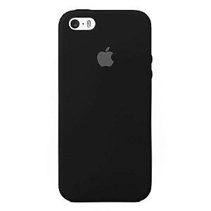Case Capinha Preta para iPhone 5/5s/5c e SE 1 GERAÇÃO de Silicone - O9ZGBRNXR