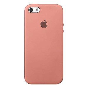 Case Capinha Rosa para iPhone 5/5s/5c e SE 1 GERAÇÃO de Silicone - 45E8AIWB3