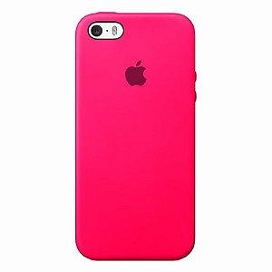 Case Capinha Rosa Pink para iPhone 5/5s/5c e SE 1 GERAÇÃO de Silicone - 3BXX3FTRL