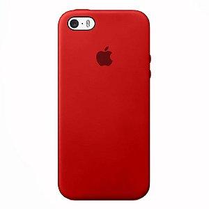 Case Capinha Vermelha para iPhone 5/5s/5c e SE 1 GERAÇÃO de Silicone - 1XJ1OCABO