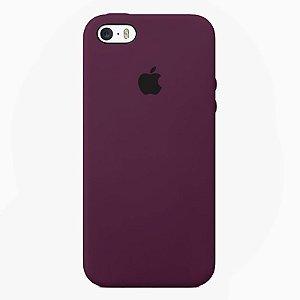 Case Capinha Vermelho Bordô para iPhone 5/5s/5c e SE 1 GERAÇÃO de Silicone - 3ABKFLE9E