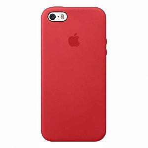 Case Capinha Vermelho Fosco para iPhone 5/5s/5c e SE 1 GERAÇÃO de Silicone - UPFPJI78S