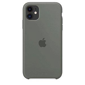 Case Capinha Cinza para iPhone 11 de Silicone - NX71OYQJK