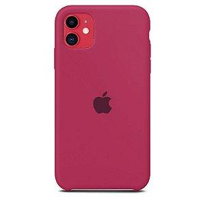 Case Capinha Rosa Hibisco para iPhone 11 de Silicone - B1K9HX253