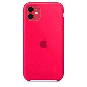 Case Capinha Rosa Pink para iPhone 11 de Silicone - T5HDCUJ7I