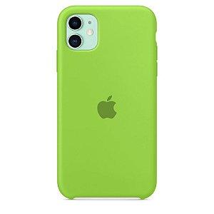 Case Capinha Verde para iPhone 11 de Silicone - EQJBPSSOL