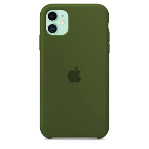 Case Capinha Verde Militar para iPhone 11 de Silicone - D9G7X4MCY
