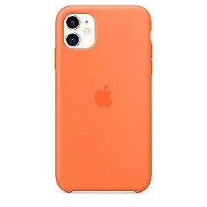 Case Capinha Laranja para iPhone 11 de Silicone - KMWEBX7H5