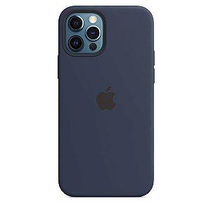 Case Capinha Azul Marinho para iPhone 12 e 12 Pro de Silicone - 0E4057F7I