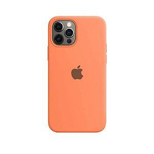 Case Capinha Laranja para iPhone 12 e 12 Pro de Silicone - UEO0QQ4C8