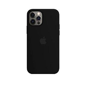 Case Capinha Preta para iPhone 12 e 12 Pro de Silicone - BEK7TFJFI