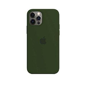 Case Capinha Verde Escuro para iPhone 12 e 12 Pro de Silicone - Y1X4ZEL2E