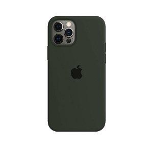 Case Capinha Verde Musgo para iPhone 12 e 12 Pro de Silicone - THPSRTTET