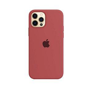 Case Capinha Vermelho Fosco para iPhone 12 e 12 Pro de Silicone - KFBZOJDCZ