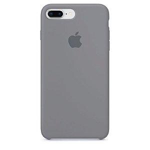 Case Capinha Cinza para iPhone 7 Plus e 8 Plus de Silicone - MEXF5ROCZ