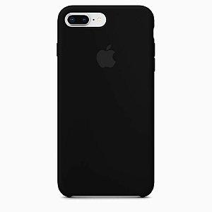 Case Capinha Preta para iPhone 7 Plus e 8 Plus de Silicone - 74NN64I38