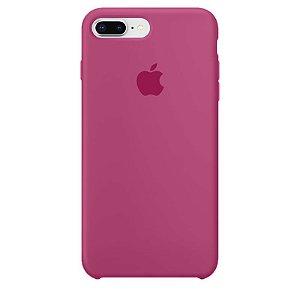Case Capinha Rosa Hibisco para iPhone 7 Plus e 8 Plus de Silicone - GADH5MGPP