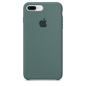 Case Capinha Verde Pacífico para iPhone 7 Plus e 8 Plus de Silicone - Q3RLDW99Z