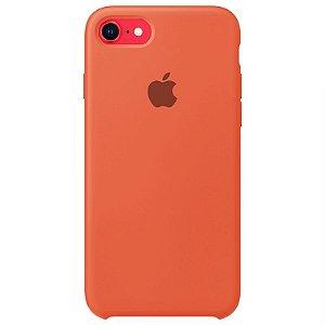 Case Capinha Laranja para iPhone 7, 8 e SE 2º Geração de Silicone - N4OMGQX9U