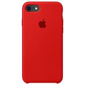 Case Capinha Vermelha para iPhone 7, 8 e SE 2º Geração de Silicone - 2CU10XEP2