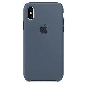 Case Capinha Azul Holandês para iPhone X e XS de Silicone - Q5UUACTBV