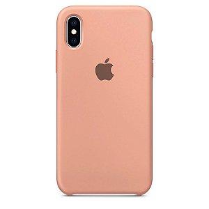 Case Capinha Rosa para iPhone X e XS de Silicone - KS1F8MLGO