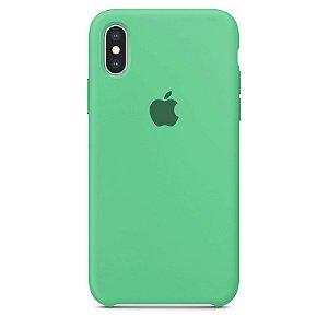 Case Capinha Verde Água para iPhone X e XS de Silicone - HOW76UFPC