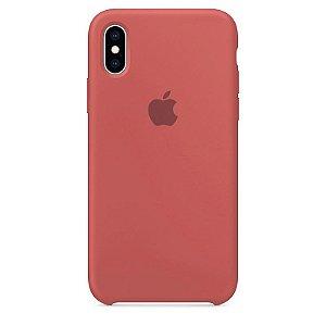 Case Capinha Vermelho Antigo para iPhone X e XS de Silicone - 2BHJKGZIB