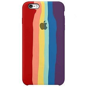 Case Capinha Pride Arco-Íris para iPhone 6 e 6s de Silicone - CS45XH8HC